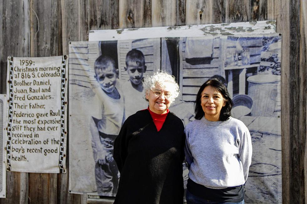 Graciela Sánchez and a woman.