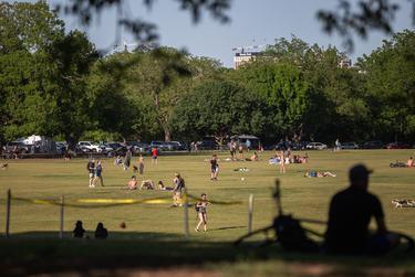 Austin residents visited Zilker Park last week in spite of the coronavirus-related stay-at-home order.