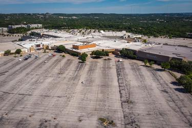 The parking lot of Barton Creek Square in Austin on May 1, the same day some Texas businesses began reopening on a limited basis.