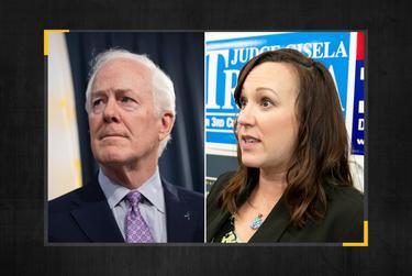 Republican U.S. Sen. John Cornyn and Democratic challenger MJ Hegar.