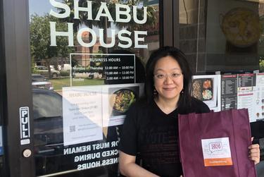 Debbie Chen's restaurant, Shabu House, isn't reopening immediately.