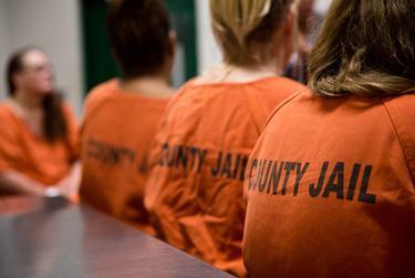 Inmates at the Harris County Jail