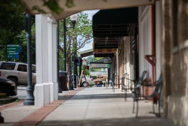 Downtown San Marcos during the coronavirus pandemic.