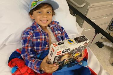 Nikhil Shah, 5, undergoes weekly chemotherapy treatments in San Antonio.