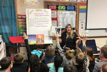 Karen Sams, a 2020 Teacher of the Year, is struggling to adapt to virtual learning with schools closed because of the coronavirus.
