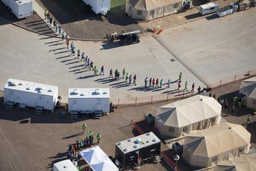 The Tornillo detention facility, used in 2018 to detain undocumented immigrant children, was reopened last year to hold single adults amid a spike in apprehensions of undocumented immigrants at the Texas-Mexico border.