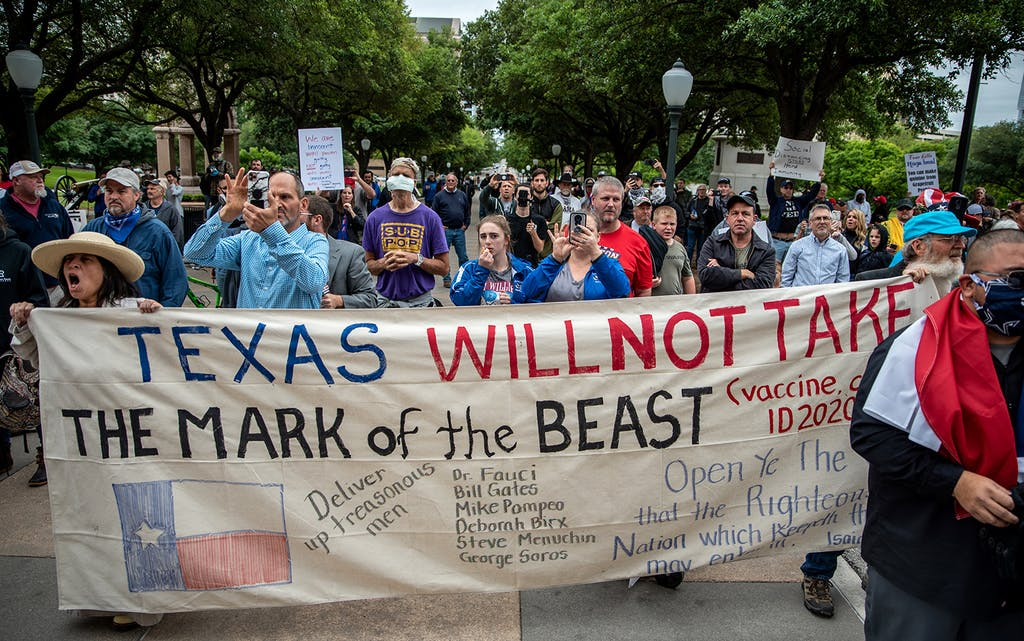 covid protests austin