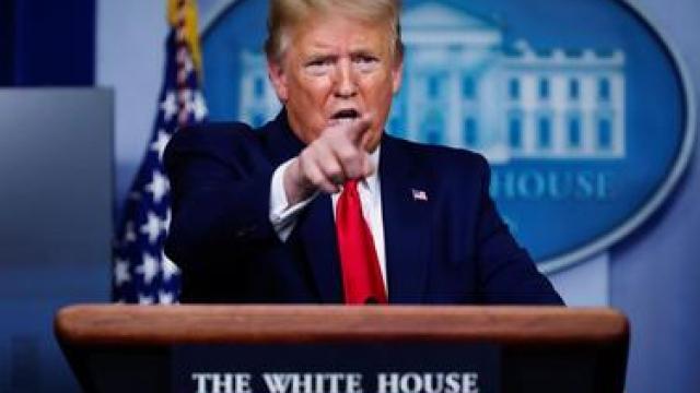 President Donald Trump says he's temporarily halting immigration during coronavirus pandemic