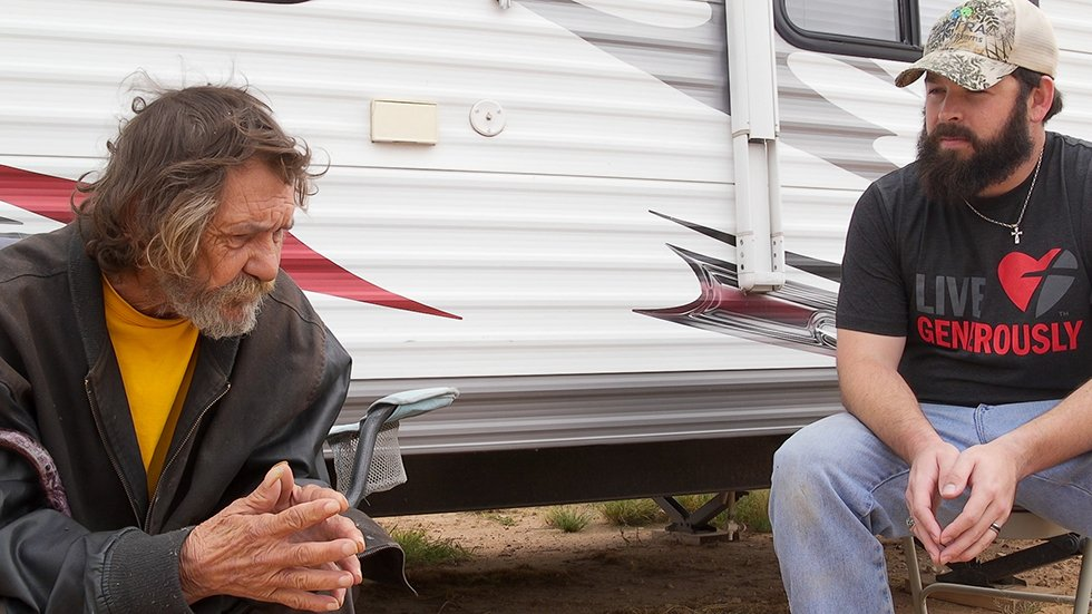 John-Mark Echols checks in on a formerly homeless friend, King Arthur.